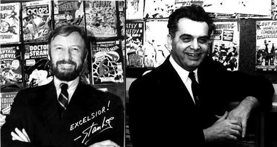 Jack Kirby en 1966 + Stan Lee en 1968.
