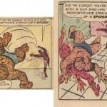 Le combat de Spider-Man contre The Thing dans les deux versions.