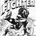 Le concept de « Night Fighter », réalisé à partir d'un dessin inutilisé de « Fighting American » (on reconnait le Side-Kick Speedboy).