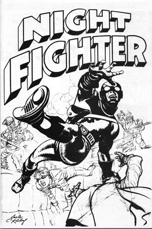 Le concept de « Night Fighter », réalisé à partir d'un dessin inutilisé de « Fighting American » (on reconnait le Side-Kick Speedboy).