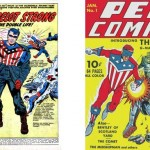 Splash de Double Life of Private Strong 1 + Pep Comics 1 (octobre 1940).