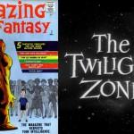 Avant Amazing Fantasy, le journal se voulait plus adulte... +  Le logo de Twilight Zone.