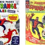 Couvertures de Strange Tales Annual 2 et Amazing Spider-Man n°8.