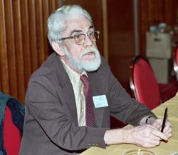 Photo de C.C. Beck à la convention de Minneapolis, en 1982.