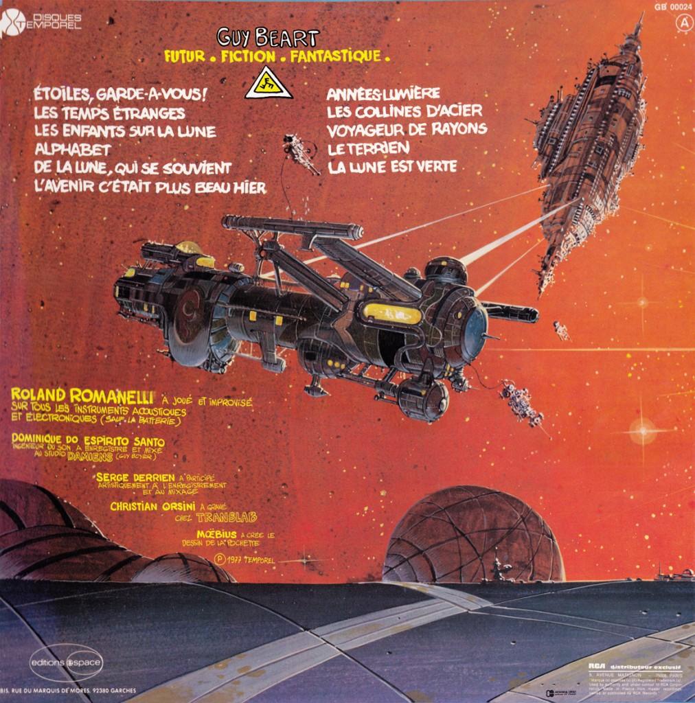 7 Futur Fiction Fantastique dos disque 1977
