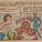 The Thing lisant son journal chez Kirby et Ditko.