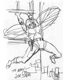 Dessin de The Fly réalisé par Joe Simon pour un fan.