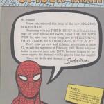 Une page de Kirby de Amazing Spider-Man n°1, annonçant le prochain courrier des lecteurs.