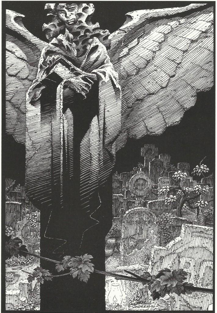 Dessin paru dans le fanzine Black-Out n°5, en 1995.