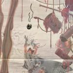 Un extrait de l'une des six illustrations réalisées pour les six premiers volumes du « Cycle des épées » de Fritz Leiber parus chez Temps futurs, de 1982 à 1983.