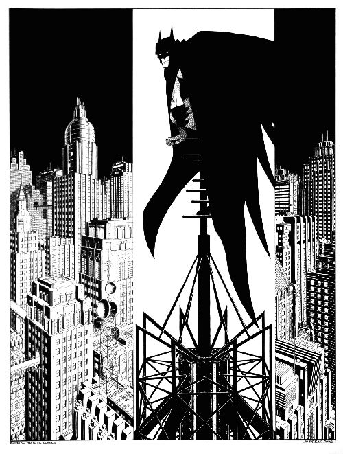 Hommage à Batman réalisé pour la librairie Petits Papiers de Bruxelles.