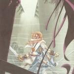 L'une des six illustrations réalisées pour les six premiers volumes du « Cycle des épées » de Fritz Leiber parus chez Temps futurs, de 1982 à 1983.