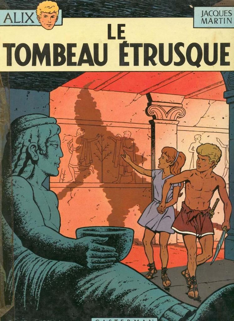 """Couverture pour """"Le Tombeau étrusque"""" (Casterman, 1968)"""