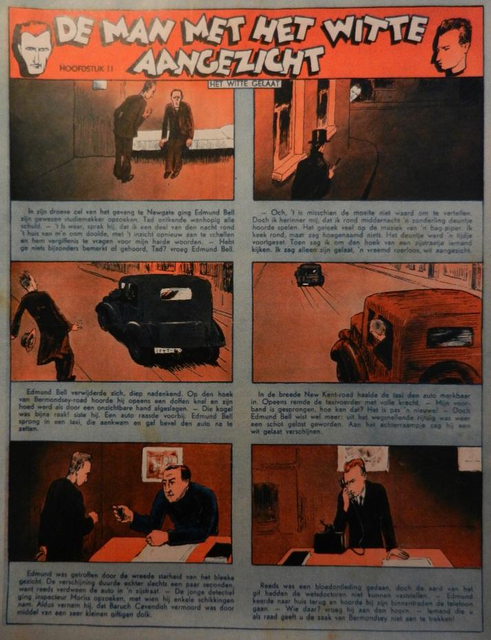 « De Man met het witte aangezicht » (« L'Homme au visage blanc ») – Épisode 2 - 06/1936.