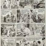 Une planche originale de « Guy Lebleu ».