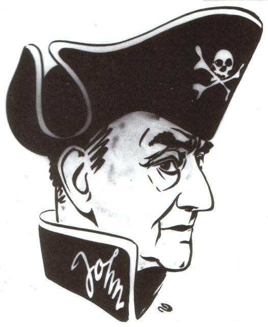 Caricature de Jean Ray  réalisée par Renaat  pour le 75ème anniversaire de l'écrivain.