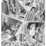 L'une des 116 planches originales de « Joseph Balsamo » (la 9ème) réalisées pour Cino Del Duca, entre 1957 et 1958, et restées, finalement, inédites.
