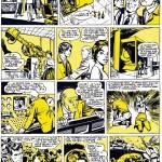 Les deux premières pages de « Mark Trent » dans Pilote (histoire reprise intégralement dans les n°55, 57, 59 et 61 de Hop !, en 1993).