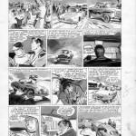 Une planche originale de « L'Agent P.60» : page 2 de l'épisode « Victoire dans le rallye » publié dans Tintin, du n°546 au n°558 de 1959.