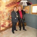 Philippe Delaby et Jean Dufaux dans l'exposition « Murena ».
