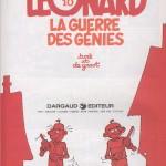 """Un exemple de poursuite du gag de couverture : la page de titre de """"La guerre des génies"""" (1983)"""