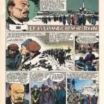 Première des douze pages de « Lénine et la grande révolution » (scénario de Roger Lécureux) publiées dans le n°1180 du 14 décembre 1967 de Vaillant.