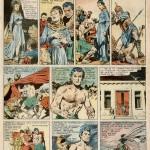 Page de « Salammbo » parue dans le n°248 de Vaillant, du 13 février 1950.