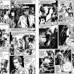 Extraits de la première bande dessinée de Paolo Eleuteri Serpieri, publiée dans le n°0 de Lanciostory du 14 avril 1975 : « L'Antica maledizione », en treize planches.