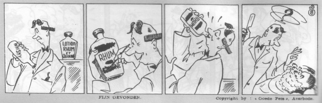 8ème aventure de « Pateetje » : « Bien trouvé », dans Averbode's Weekblab, en 1947.