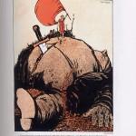 Dessin de Gabriele Galantara dénonçant la famine et les abus du monde capitaliste dans les années 1900
