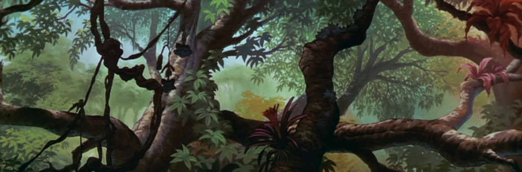 "Background (étude d'arrière-plan) pour le film "" Disney Jungle Book """