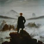 """"""" Le voyageur au-dessus de la mer de nuages """" par Caspar David Friedrich (1818)"""