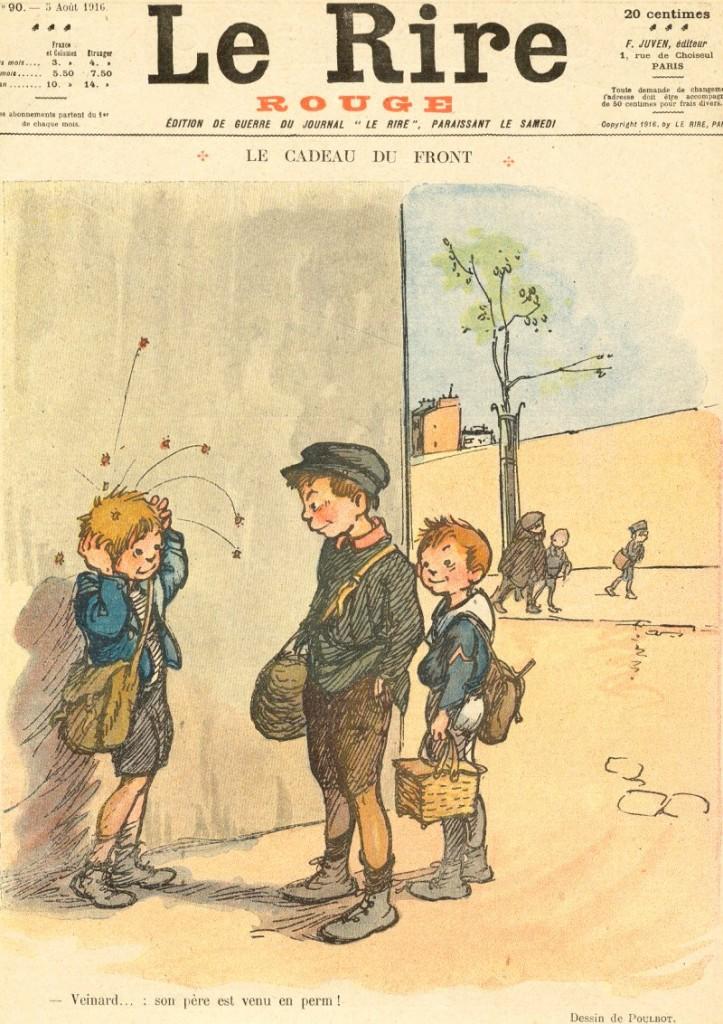 """Une du journal satirique """" Le rire """" dans son édition """" de guerre """" (août 1916)"""