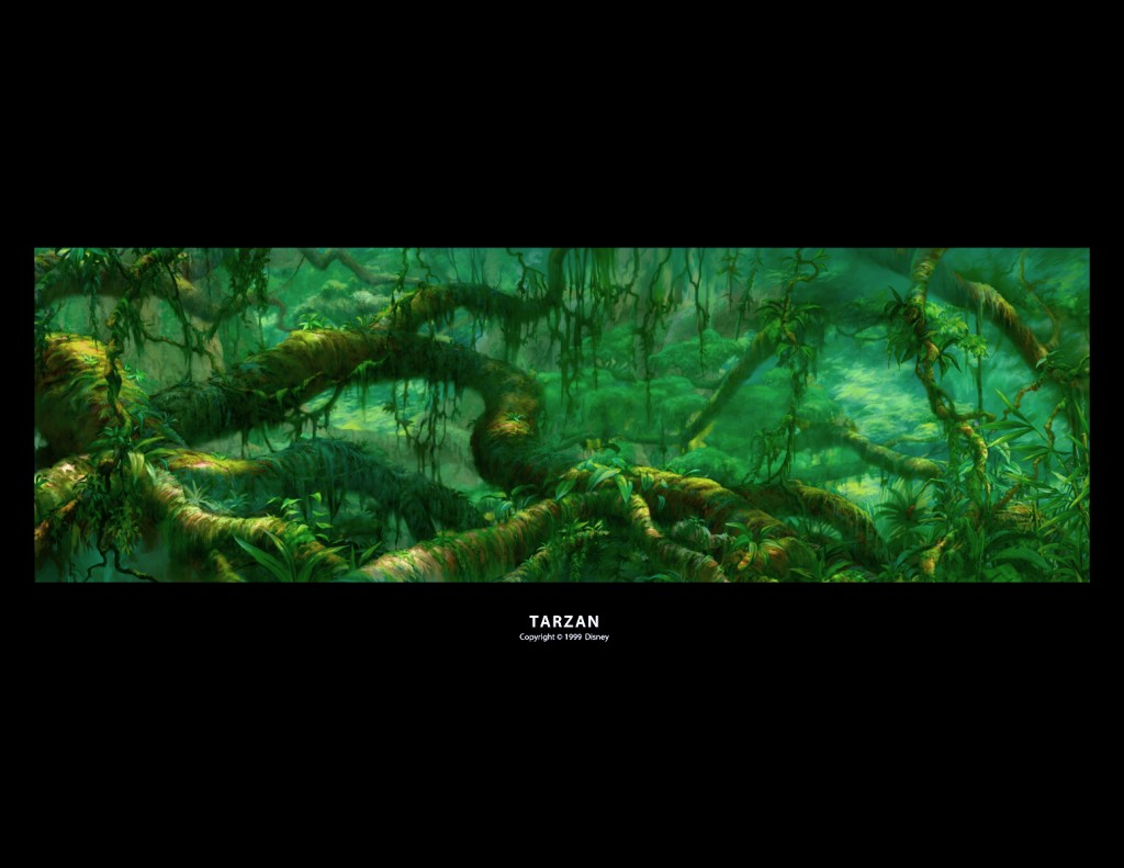 "Background pour le film "" Disney Tarzan """