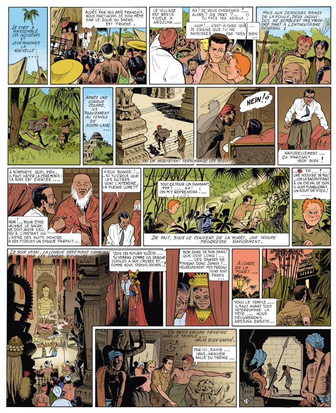 Page 25 de l'album BD Must « Le Diamant rose de Singaradja ».