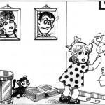 Un des premiers dessins issu de «Thomas Pips » (1947).