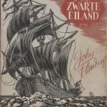 Couverture « De Zwarte eiland » (« L'Île noire ») par Renaat Demoen – 1948.