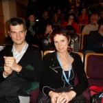 Photo du public avec Jérôme Briot de l'ACBD au premier plan.