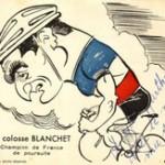 Caricature réalisée par le sportif André Caza.