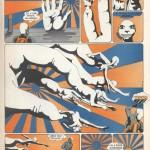 Page de « Kiss Kool» par Caza, tirée d'Actuel.