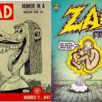 Mad n°11, avec une couverture de Wolverton + Zap Comix 0 de Crumb.