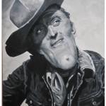 Kirk Douglas vu par Achdé dans « Wanted », collectif de caricatures western qui vient de sortir aux éditions Valentine.
