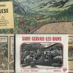 La première case  (supprimée dans l'album) montrait la fictive station de Vargèse, inspirée semble-t-il à Hergé par celle - bien réelle - de St-Gervais-les-Bains (Haute Savoie)
