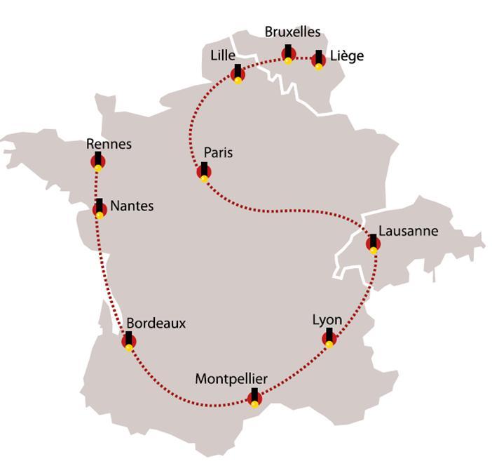 Carte du Spirou Tour