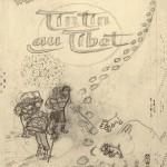 Crayonné par Hergé pour le visuel final