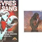 L'autre affiche de Caza pour « Lèvres de sang » + sa cannibalisation dans « Les Mondes d'Arkadi » tome 1.