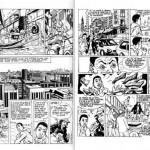 Exemples de bandes dessinée dues à Albert Tshisuaka.