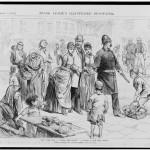 Illustration de la misère infantile (Frank Leslie's Illustrated Newspaper, 1885)