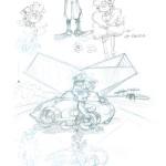 Recherches et crayonnés par Yoann (album version luxe - Dupuis 2013)