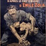 Affiche de R. Freida pour l'adaptation de Germinal par Albert Capellani (1913)